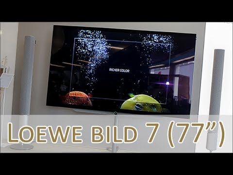 loewe bild 7 oled 77 zoll hands on youtube. Black Bedroom Furniture Sets. Home Design Ideas