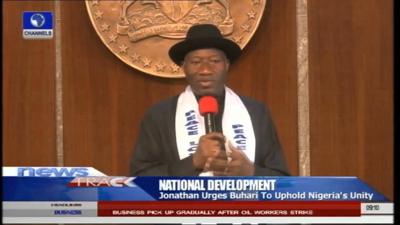 Download Jonathan Urges Buhari To Uphold Nigeria's Unity -- 27/05/15