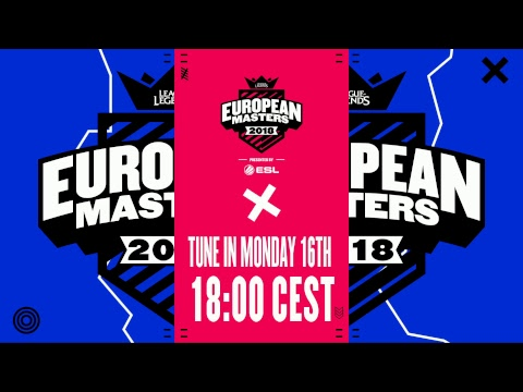 [🔴] European Masters Spring Split Group Stage 2018 - Day 2