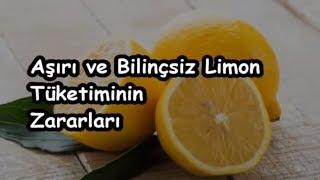 Aşırı ve Bilinçsiz Limon Tüketiminin Zararları