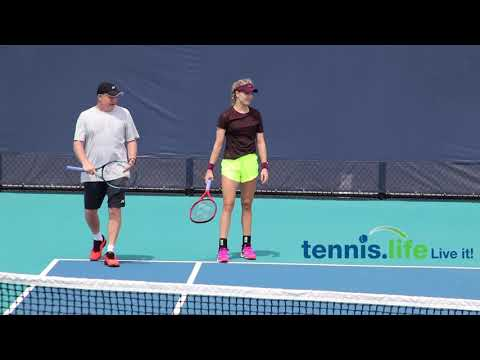 Bouchard Practices With Linette