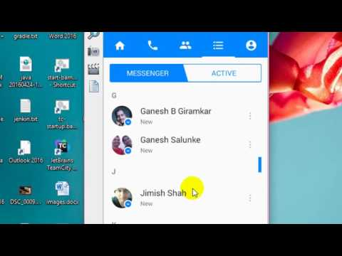 How to archive messages in Facebook messenger android app