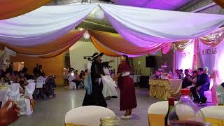 Traditional dancing at a wedding in salta Argentina