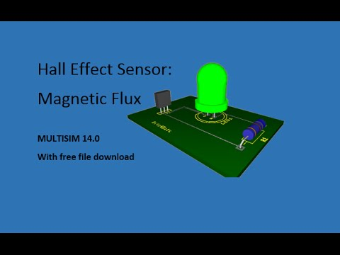 NI Multisim: Hall Effect Sensor & Magnetic Flux