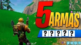 5 ARMAS Challenge | Fortnite: Battle Royale