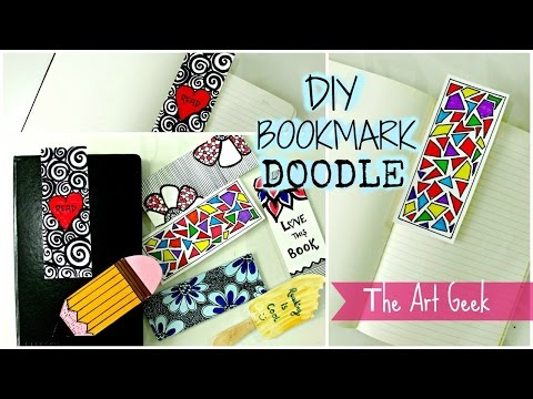 DIY- 7 DOODLE BOOKMARKS ► part-1