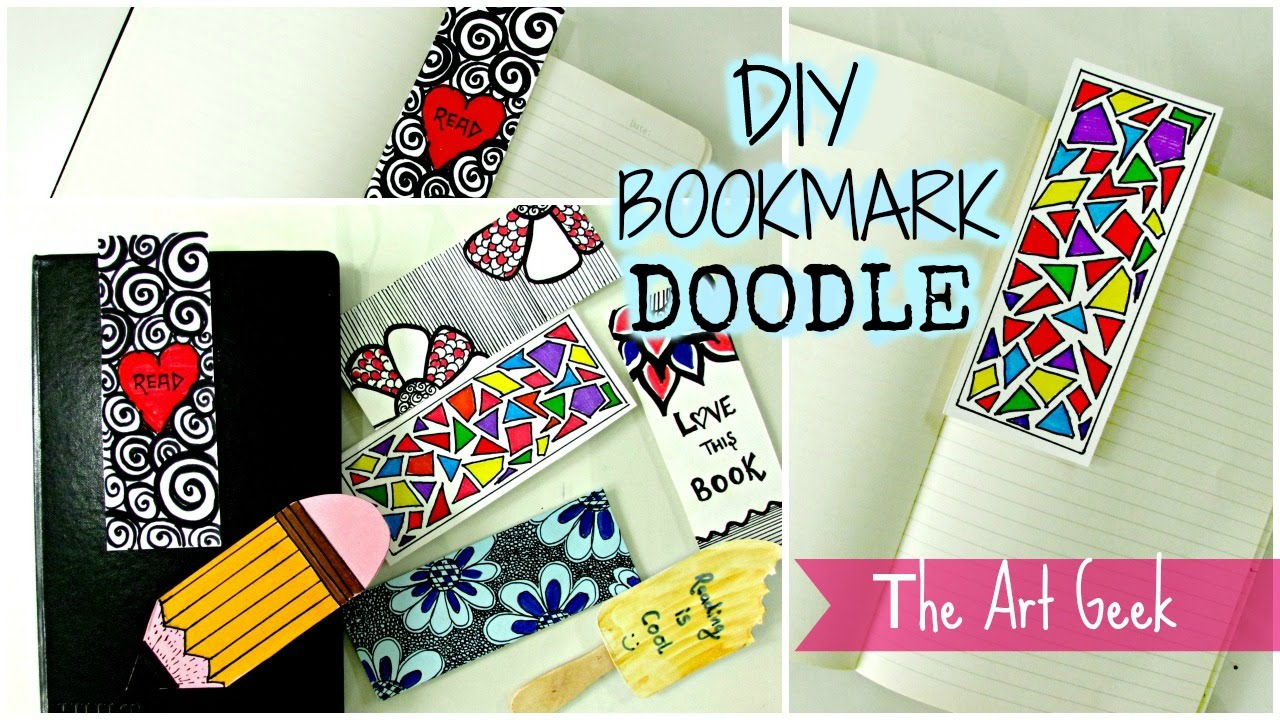 diy 7 doodle bookmarks part 1 youtube - Bookmark Design Ideas