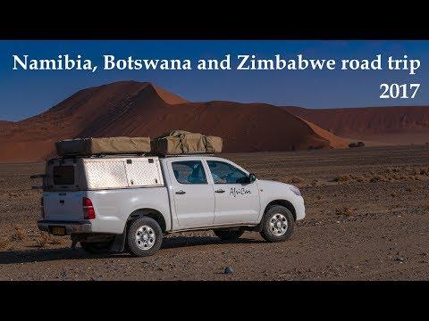 Namibia, Botswana and Zimbabwe road trip 2017 / 4K