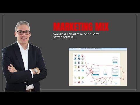 Marketing Mix - Warum du nicht alles auf eine Karte setzen solltest