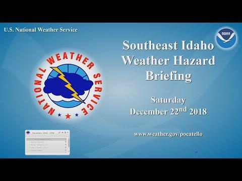 12/22/18 Hazard Briefing - Quiet Weather Today. Snow arrives Sunday