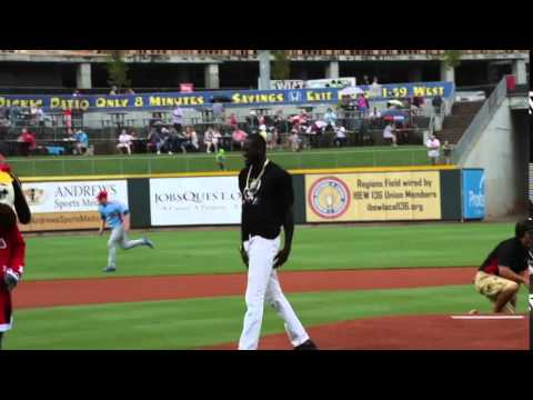 Watch  Deontay Wilder Throw Out The First Pitch At the Birmingham Barons Game