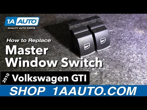 How to Replace Install Master Window Switch 10-11 Volkswagen Golf/GTI
