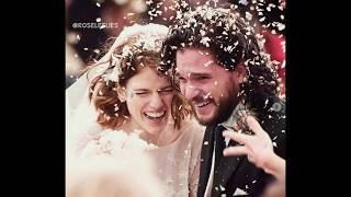 Game of Thrones - Kit Harington and Rose Leslie wedding