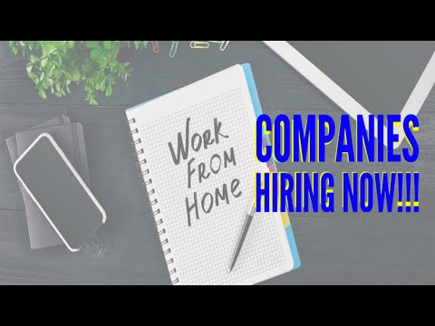 3 companies hiring to WORK from HOME WORLDWIDE in 2020 ||Apply FAST!
