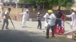 Punjabi desi fight in village