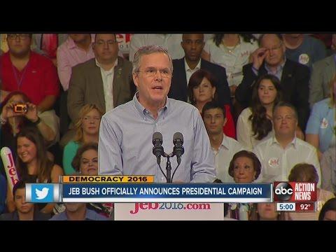 Jeb Bush officially announces presidential campaign