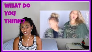 Lisa And Lena VS  Max and Harvey - Battle Muser on Musically | Reaction