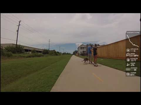 Houston Heights Hike and Bike Trail + White Oak Greenway Trail - 13 miles one way