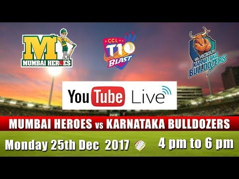 CCL T10 Blast Match I Mumbai Heroes VS Karnataka Bulldozers I Dec 25th