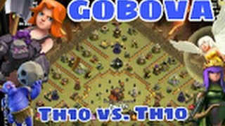 gobova queen walk   golem bowler valkyrie   cw   rh10 th10 vs th10   3 sterne   deutsch german