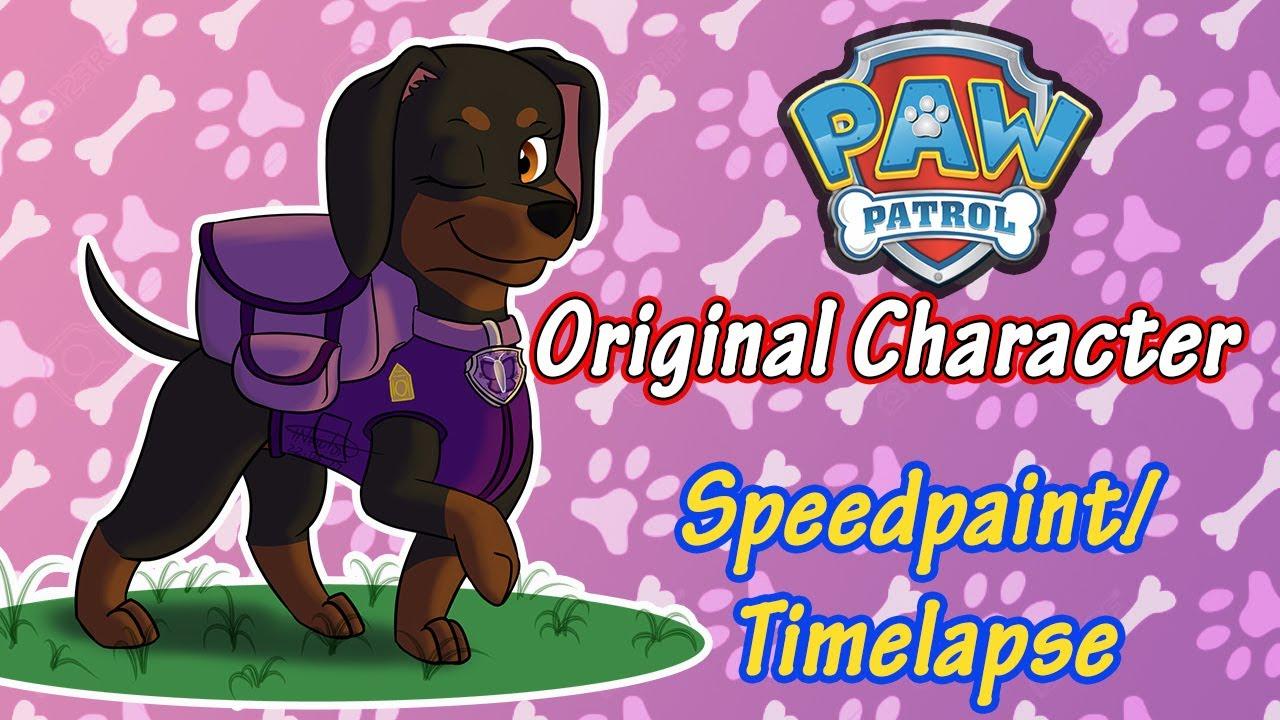 Speedpaint Timelapse Prize Request Paw Patrol Oc