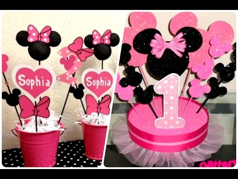 Decoración De Fiestas Infantiles De Minnie Mouse Happy Birthday Youtube