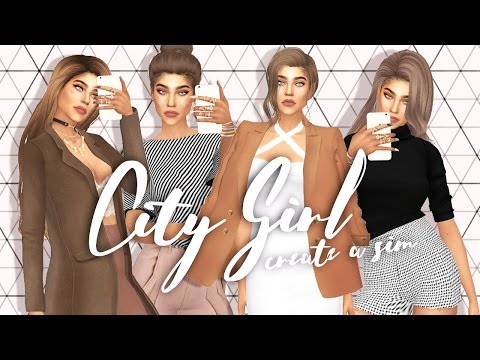 The Sims 4: CITY GIRL | Create A Sim | City Living Inspired | CC LINKS + DOWNLOAD SIM