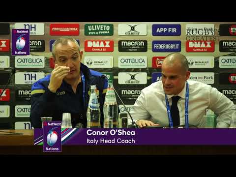 Conor O'Shea after Italy v England | NatWest 6 Nations