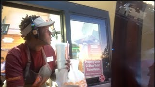 DRIVE THRU BOONK AND DASH PT2 WITH THE BAD KIDS !! *GOTFREEFOOD