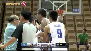 Gilas players in scuffle with Russia | JONES CUP 2015 thumbnail