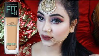 HD Reception Makeup || Traditional Indian Wedding Guest Makeup Tutorial || Full Waterproof Makeup