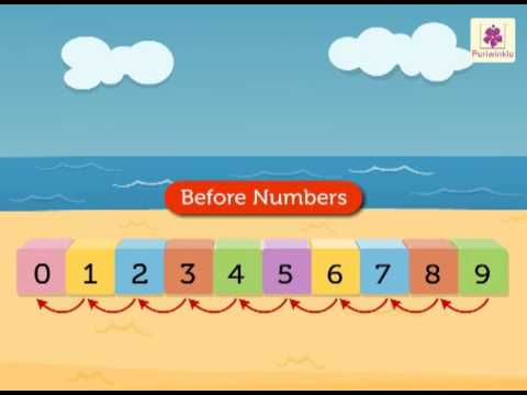 Before and After Numbers For Kids | Numbers 0 to 9 | Maths Concept ...