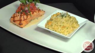 Opah - Salmon Grilled With Butternut Squash Risotto