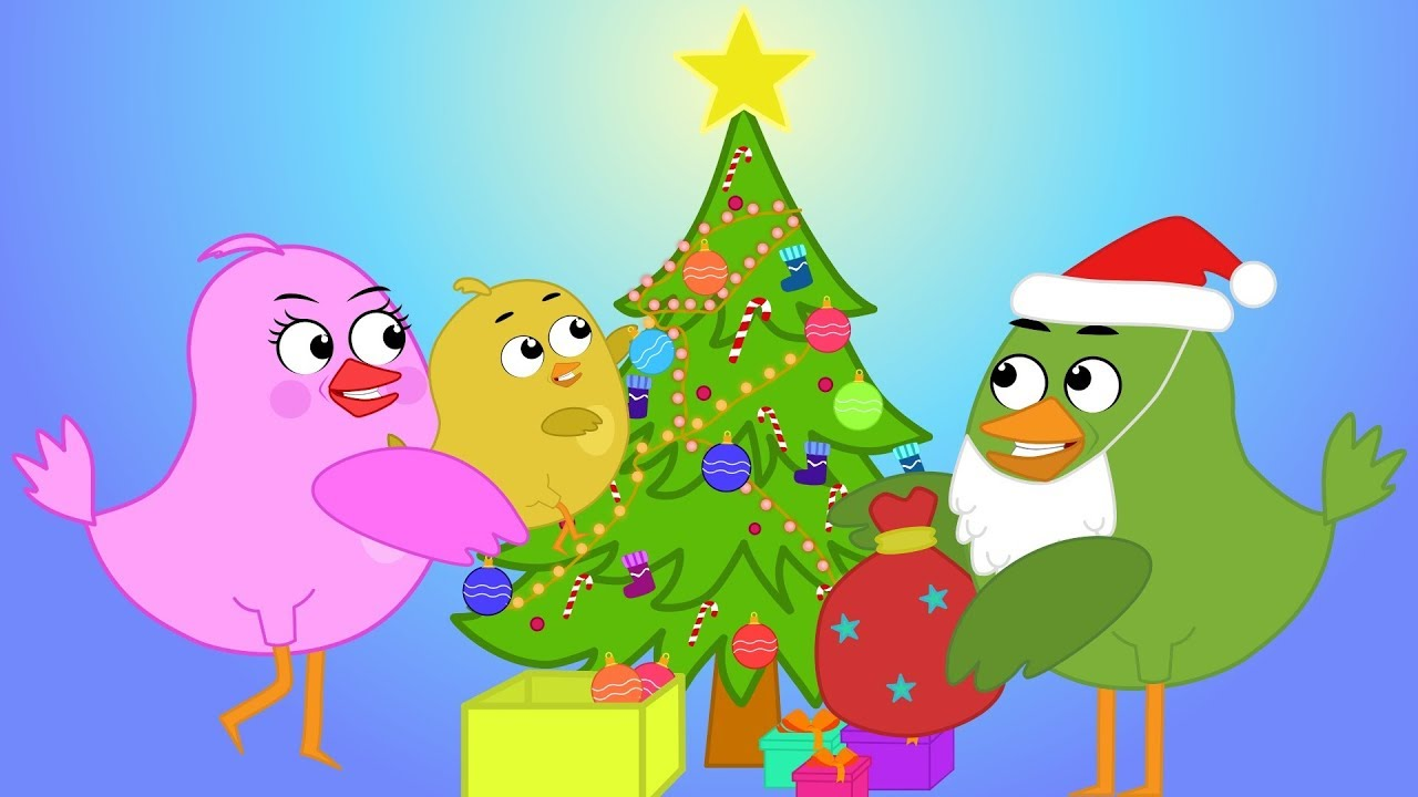 Baby Bird with mom decorated Christmas tree - Cartoon about Birds - YouTube