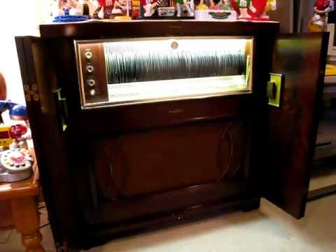Seeburg 45 Rpm Model 200c 1 Console Library Record Player