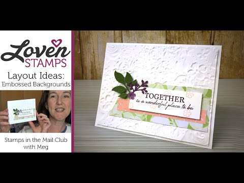 Simple Stamping 101: Embossed Background And Banner Layout