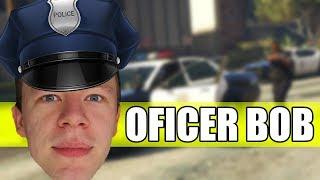 BOB POLICJANT WKRACZA DO AKCJI - GTA 5 ROLEPLAY - Na żywo