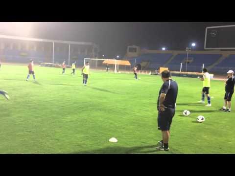 Pre match official training FC Bunyodkor in Ar Riyadh