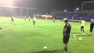 Pre match official training FC Bunyodkor in Ar Riyadh
