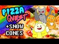 gIRLs - Pizza Quest and Snow Cones - Saggy Boobs Double Feature