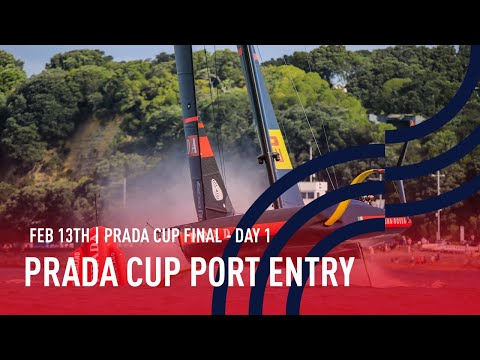 🔴 PRADA Cup Port Entry Stern Camera | Final Day 1