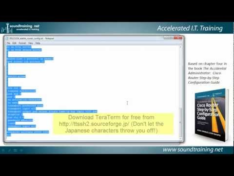 How to Back Up and Restore Cisco Router Configs in the Command Line:  Cisco Router Training 101