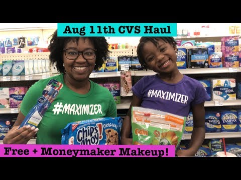 Free + Moneymaker Makeup, $1.29 Gain Flings & More| CVS Extreme Couponing Haul | Aug 11th