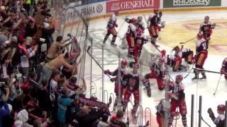Atmosféra a závěr utkání HC Sparta Praha – Mountfield HK 2:3