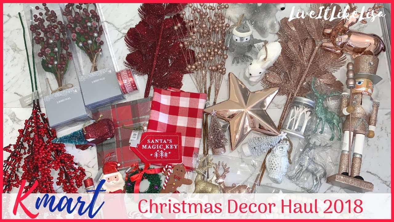 HAUL | Kmart Christmas Home Decor Haul - YouTube