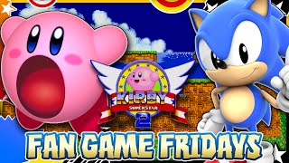 Fan Game Fridays - Kirby Superstar 2 (Kirby in Sonic 2 Hack)(Think we can reach 2000 Likes for the next installment of Fan Game Fridays? That'd be awesome :D Welcome to my new series, Fan Game Fridays as in this vid ..., 2015-12-11T19:20:51.000Z)