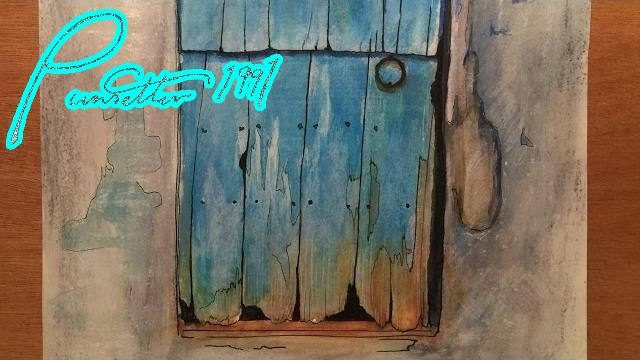 Old Rustic Door Watercolor Painting Time Lapse Youtube