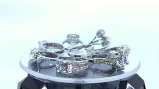 Cincin Berlian Silver Emas Putih - Perhiasan Imitasi Wanita Premium Kalung Anting VictoriaWB BR094