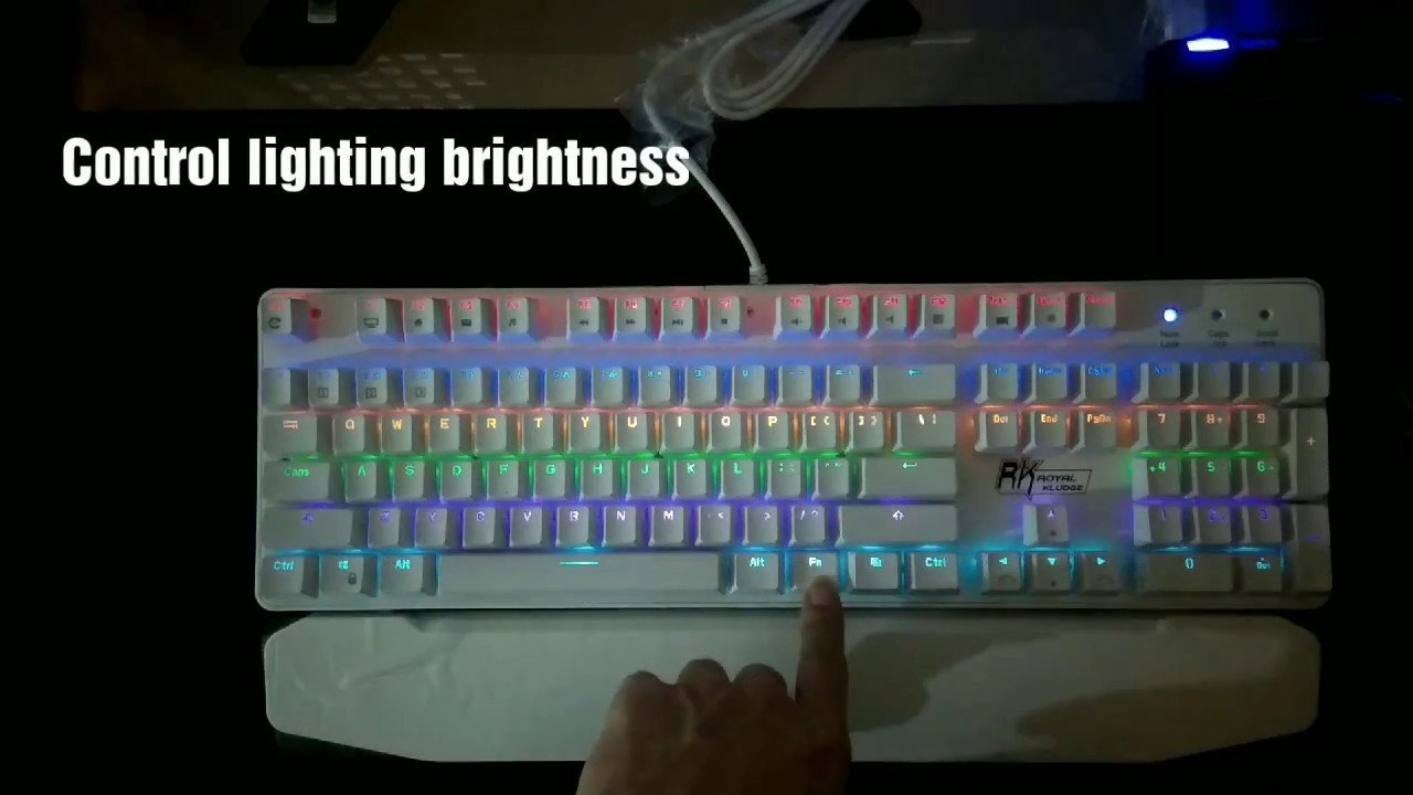 621bf8b9e22 RK Gaming Mechanical Keyboard White - Test Review & Lighting effects ...