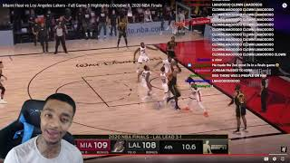 FlightReacts Miami Heat vs Los Angeles Lakers - Full Game 5 Highlights | October 9, 2020 NBA Finals!